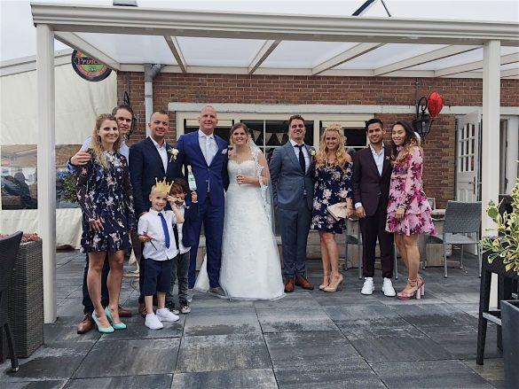 bruiloft, groepsfoto