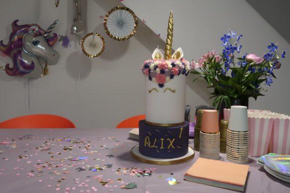 Alix's eerste verjaardag in unicorn style