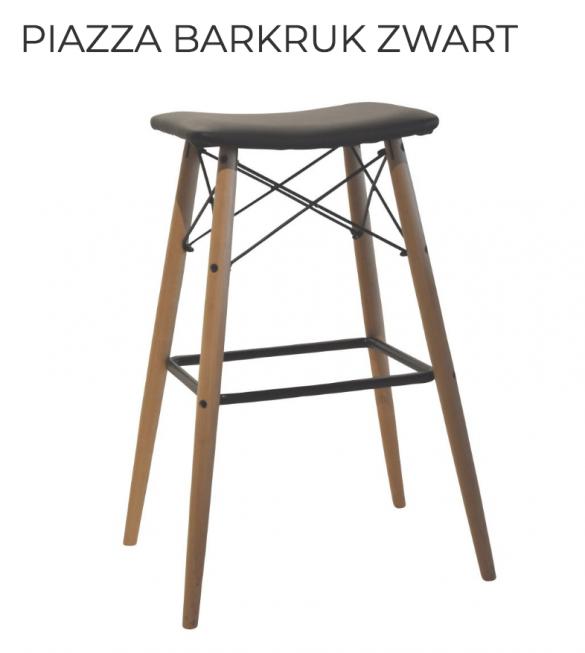 Piazza barkruk zwart